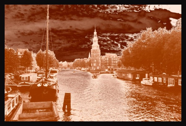 Amsterdam in copper