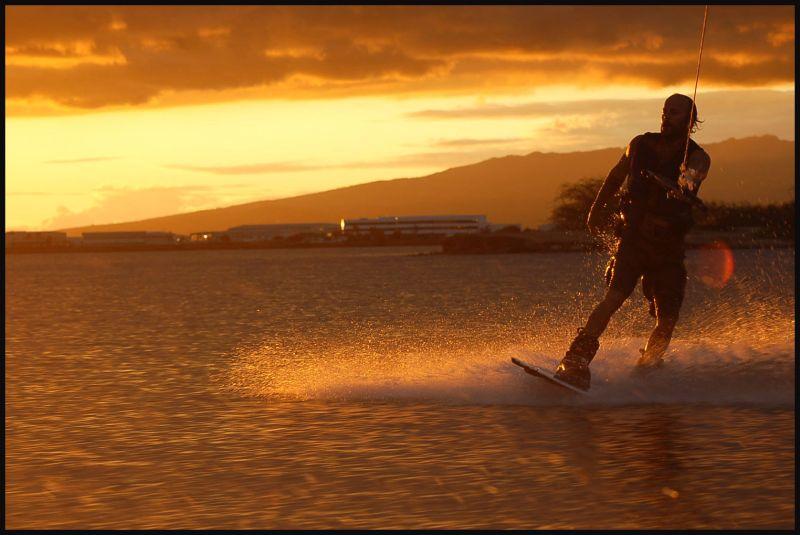 On wake board #5