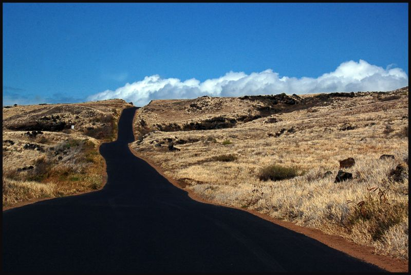 Road to volcano