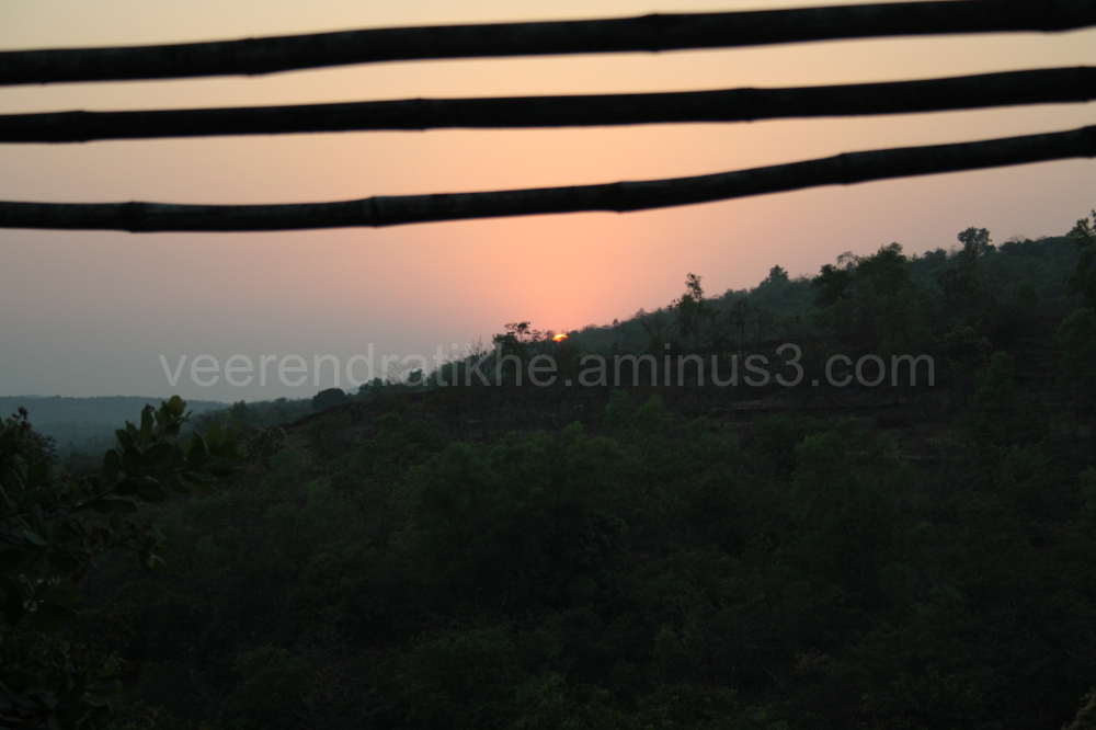 sunset in deep konkan, india