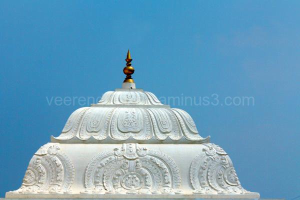 temple kalasha against blue sky