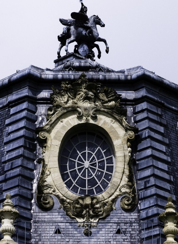 Horse stable of Chantilly, detail, France.
