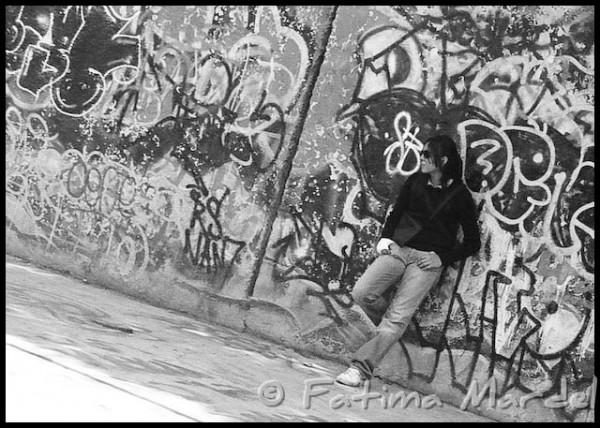 Kid in graffiti