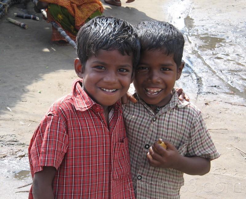 Boys in Nagapattinam Tsunami