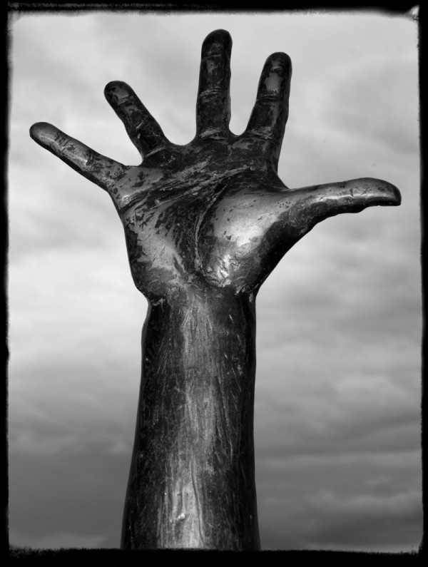 hand of a drowning man