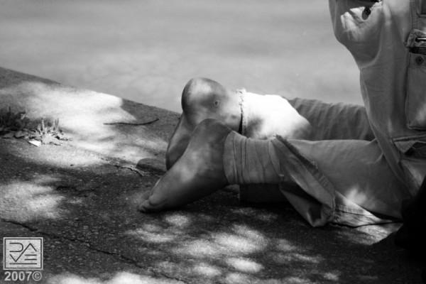 The Meditating Man: Bandages