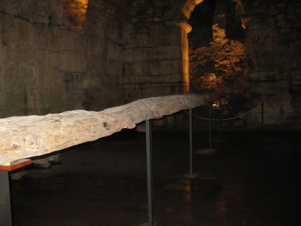 A Roman beam from Diocletian's Palace, Split 2009