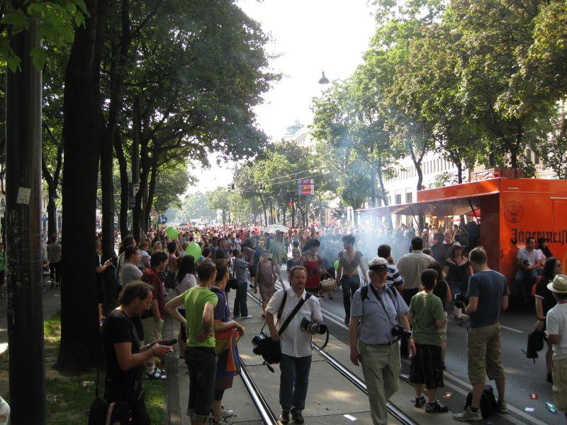 Gay pride parade in Vienna, July 2009