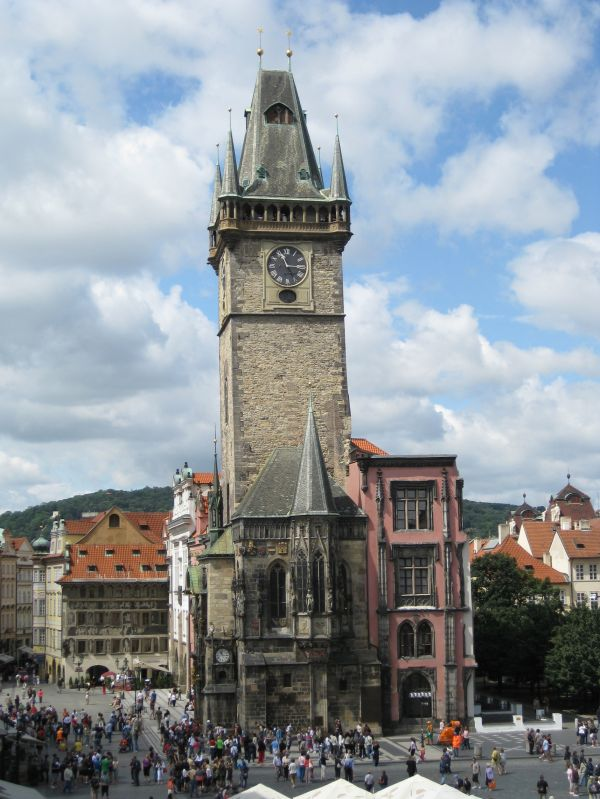 Clocktower in Prague, July 2009