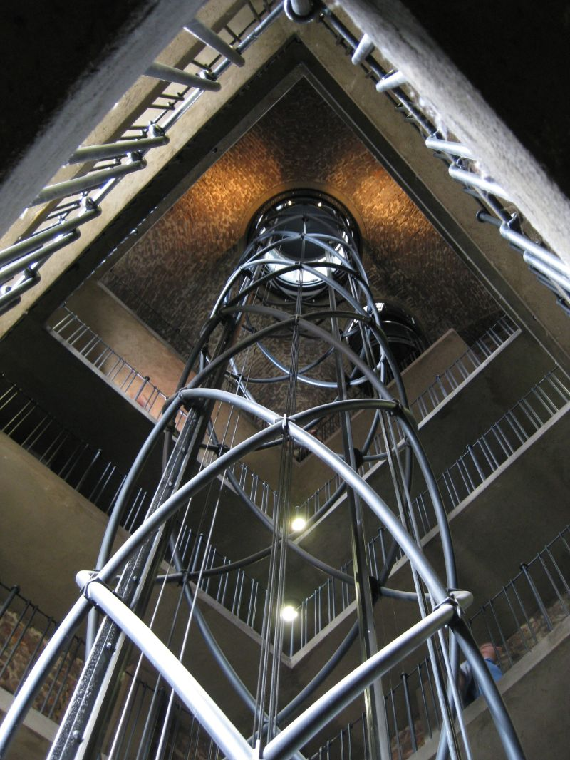 Inside the clocktower in Prague, July 2009
