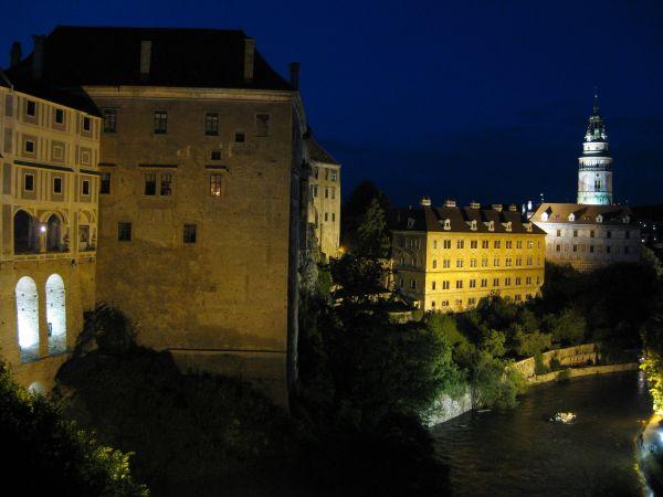 Český Krumlov at night, July 2009