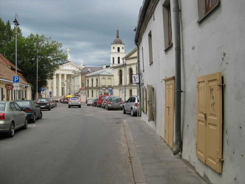 Looking towards Vilnius cathedral, July 2009