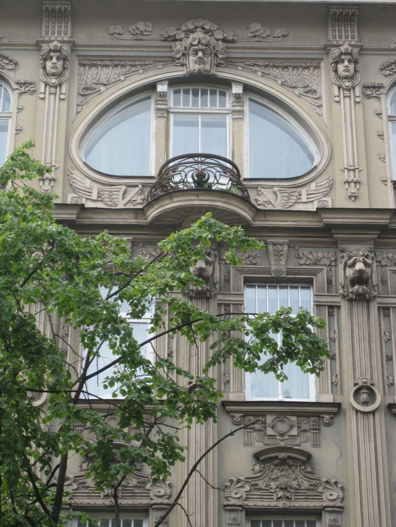 Art Nouveau architecture, Riga, July 2009
