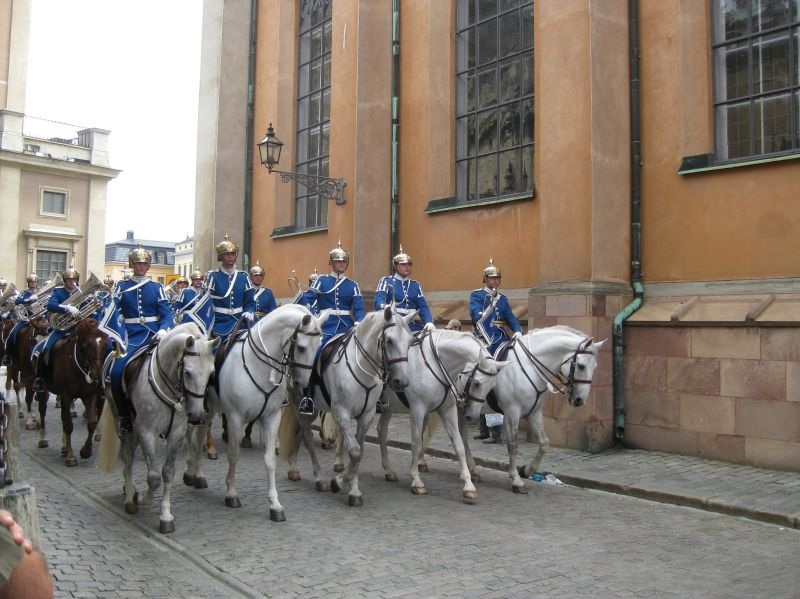 Palace guards in Stockholm, August 2009
