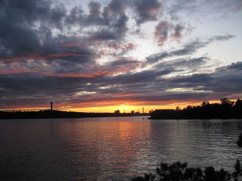 Sunset from Fjäderholmarna, August 2009