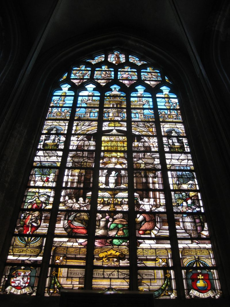 Stainlight window in Bruges, August 2009