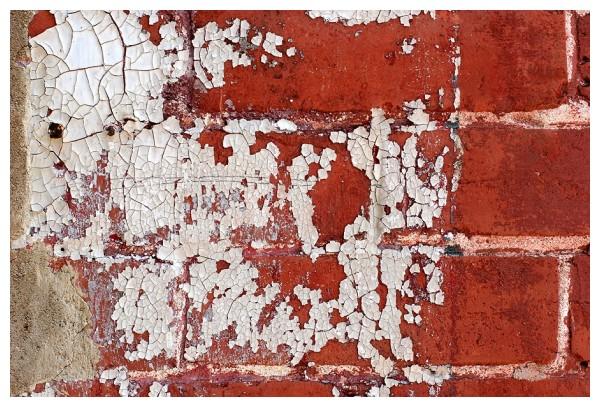 Peeling Paint on Brick