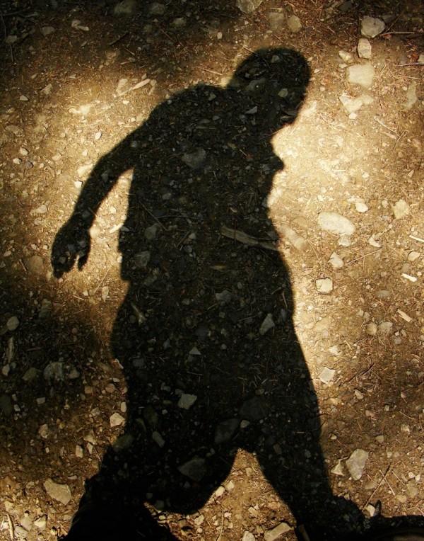 walking hunchback shadow