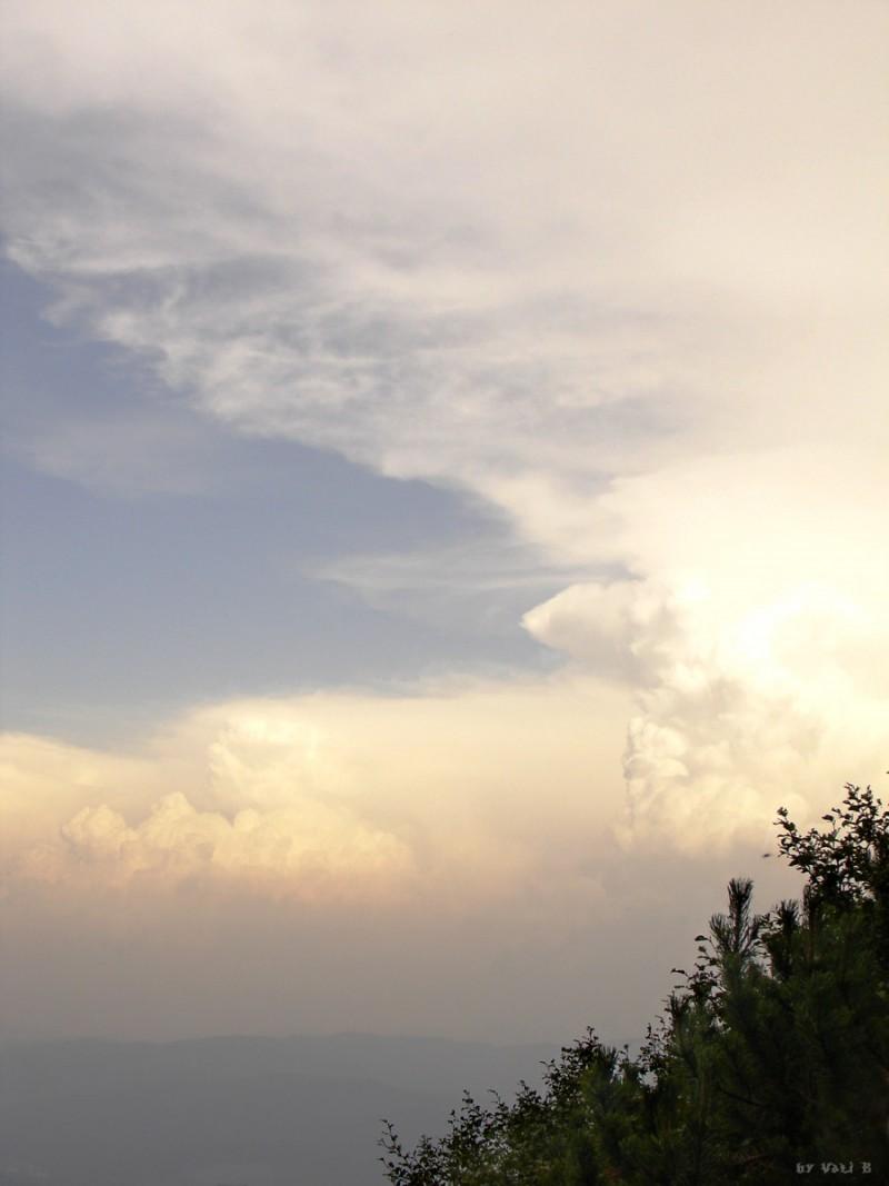 a cloudy sky from bucegi mountains