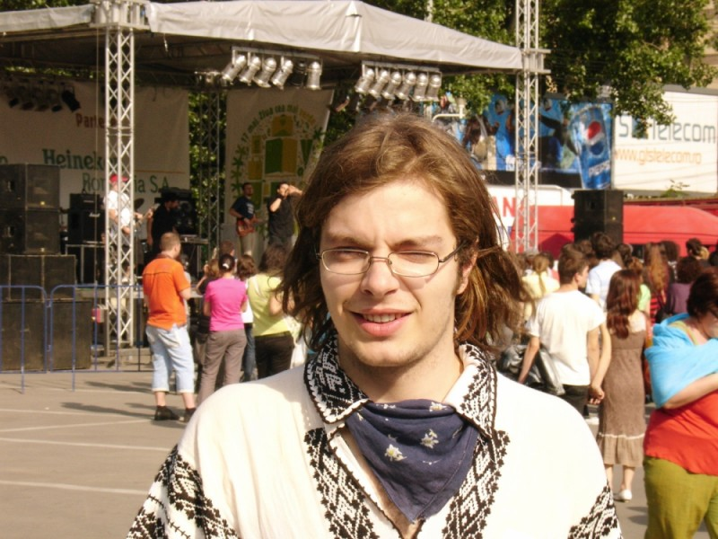 portrait of a young man with traditional shirt
