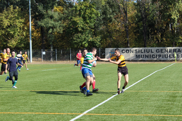 action in a rugby match