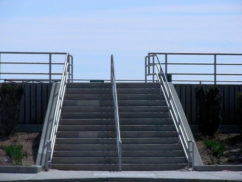 stairway to boardwalk