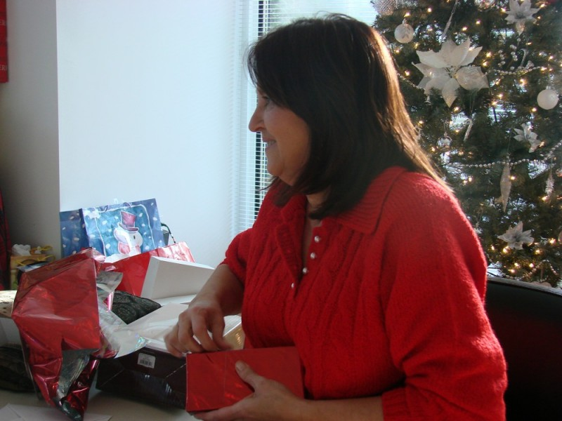 Opening Present at Christmas