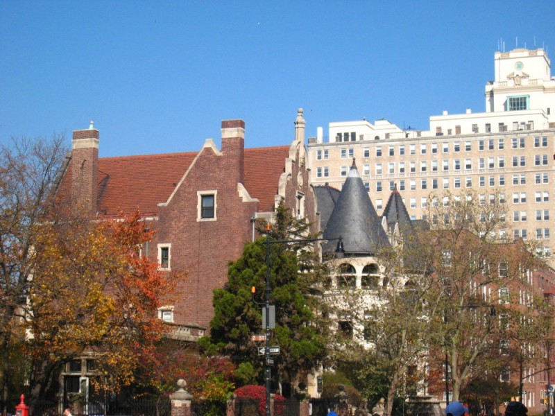 A vire of buildings on Prospect Park West