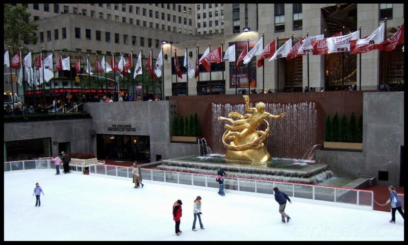 Pista de patinaje en el Rockefeller Center