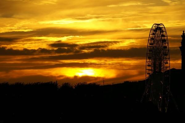 Wheel on the Sunset