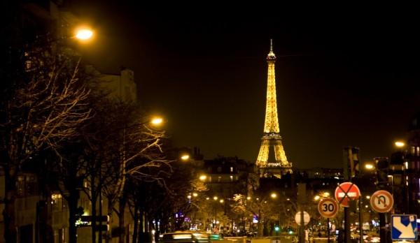 The Eiffel Tower from the upper Montparnasse