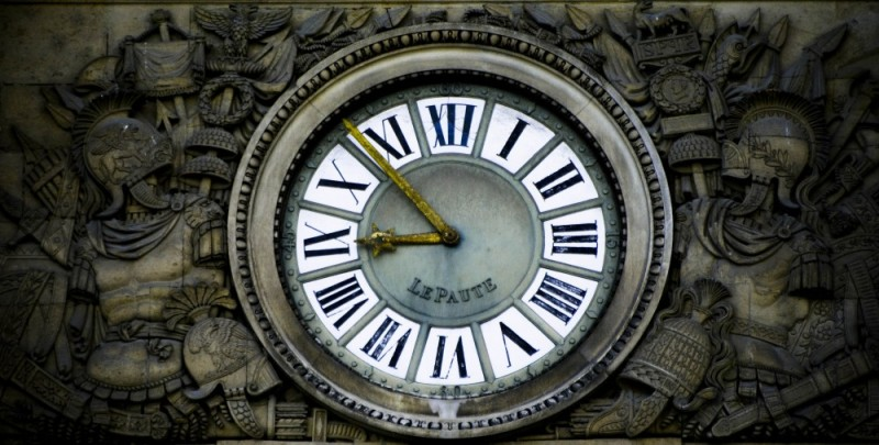 A Clock in the Louvres' Court Yard