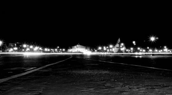 La Concorde from the Ground - Black & White