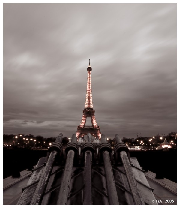 The Eiffel Tower paris france by night