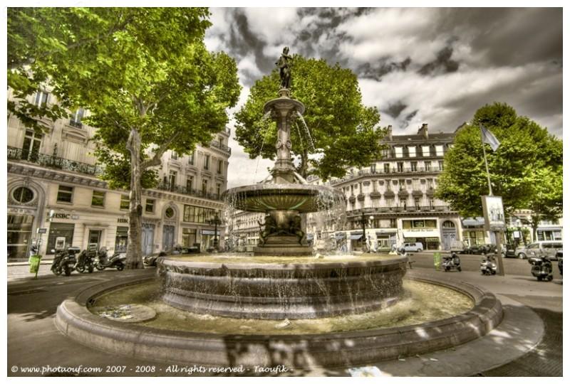 Foutain HDR  Place de la Comédie Française - Paris
