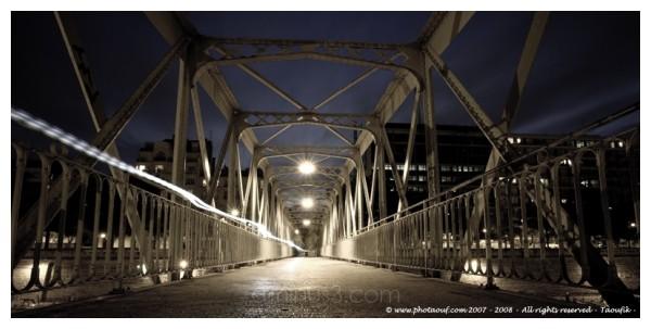 The Little Bridge on Arsenal's Port in Paris