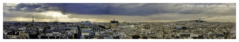 Panoramic View of Paris's Roofs