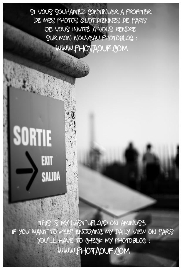 Sortie - Exit -Salida