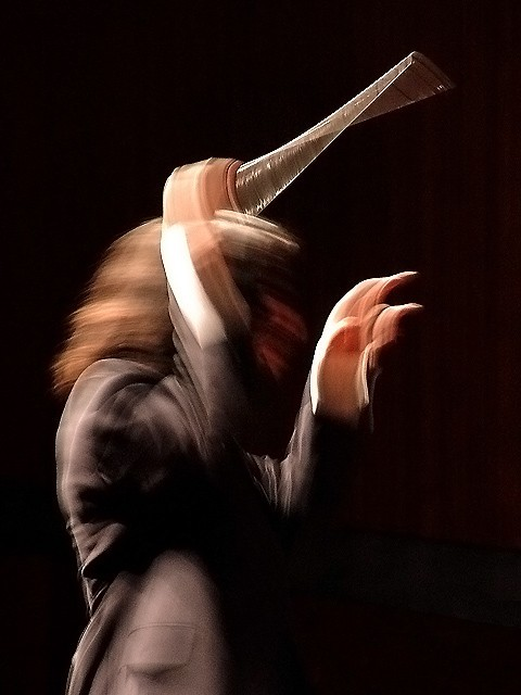 A Young Conductor Conducts the Orchestra