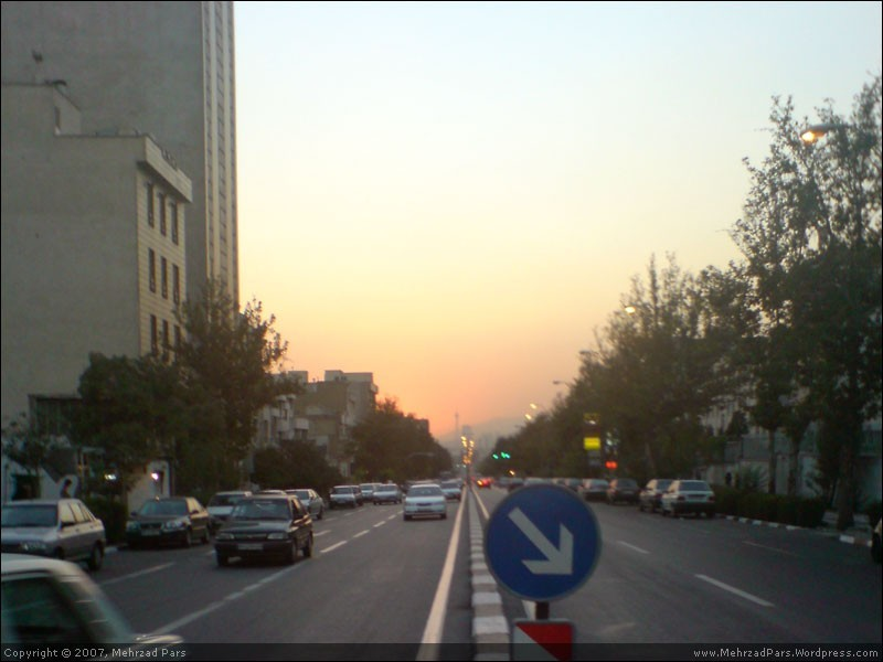 tehran sunset love