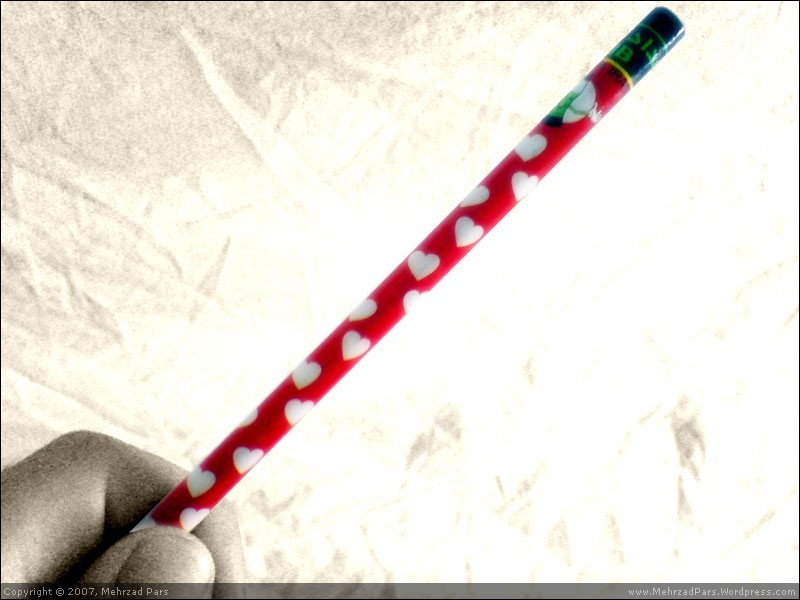 A Love pencil for my love letters