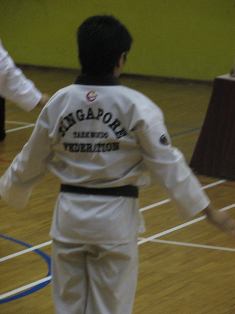 Joseph at Black Belt Grading.