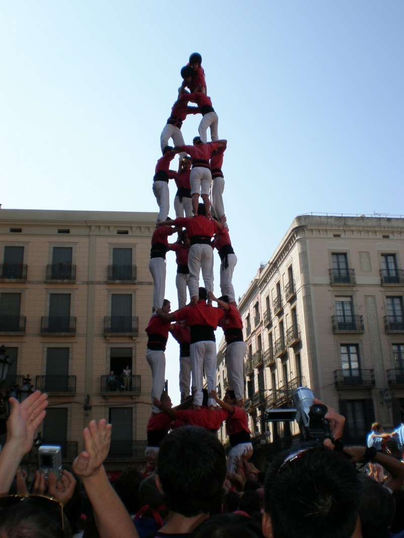 Menschenturm am Plaza de Sant Jaime