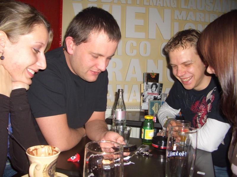 Tanja, Michi, Dido und ich im Sega