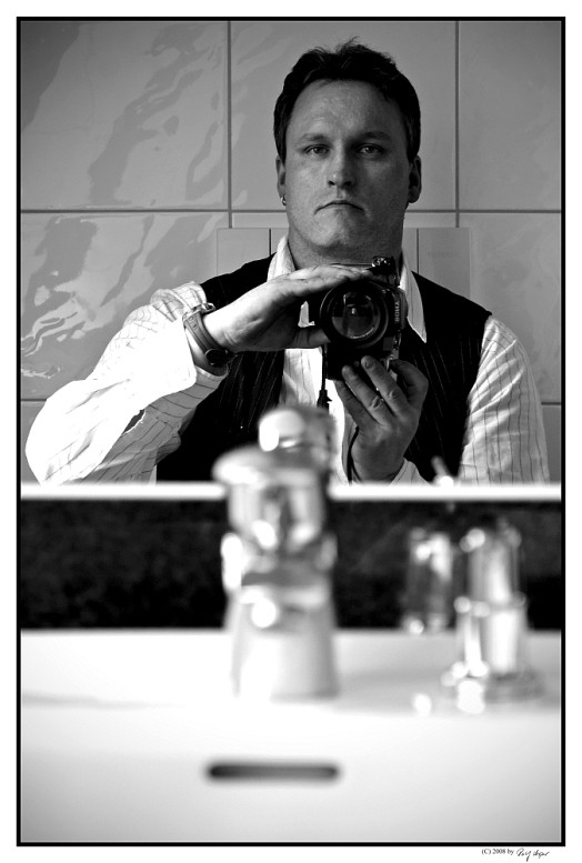 Selfportrait On The Toilet Of A Hotel