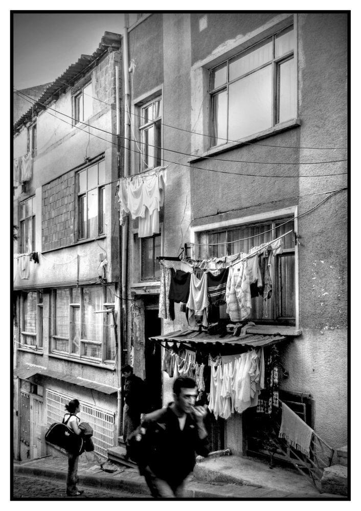 Laundry Day - Ordinary Scenery In Istanbul