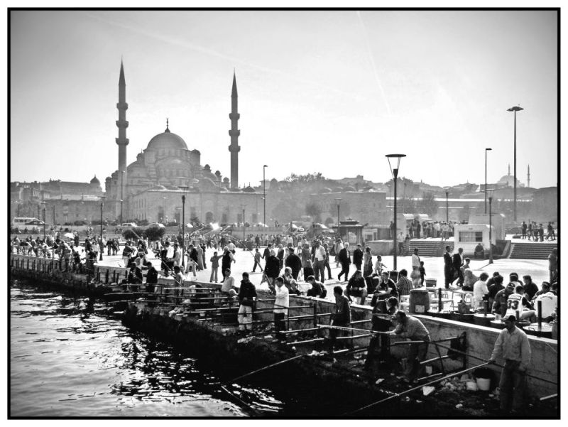 Fishing In Istanbul Harbour
