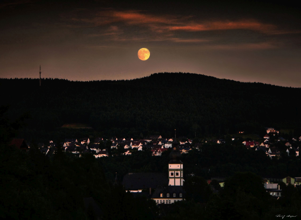 Moonrise Over Attendorn
