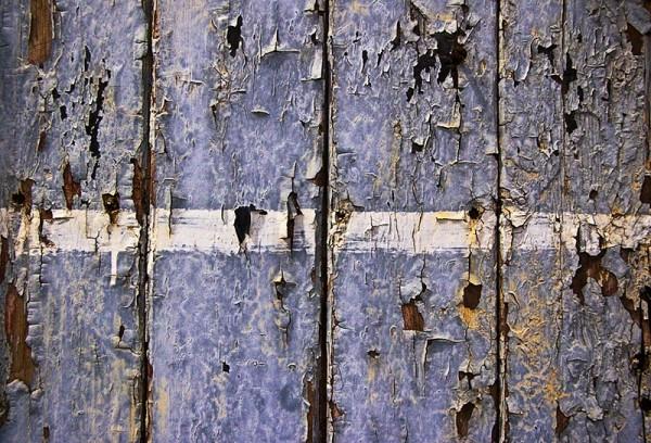 paint, stripe, train, peeling, decay