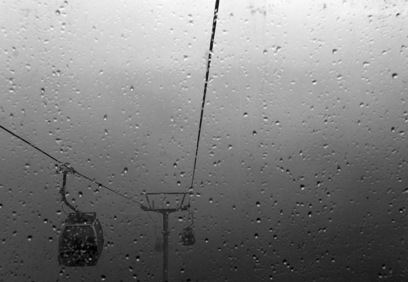cable car, scotland, rain, window
